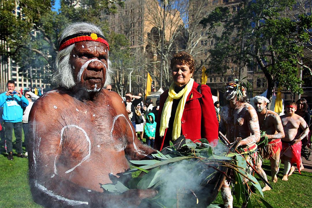 DNA證實澳洲原住民是地球現存最古老的文化。圖為2013年7月8日,澳洲悉尼,原住民舉行傳統慶祝儀式。