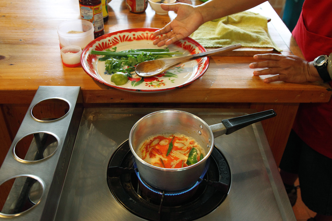 有機農莊料理學校的上課環境與過程。