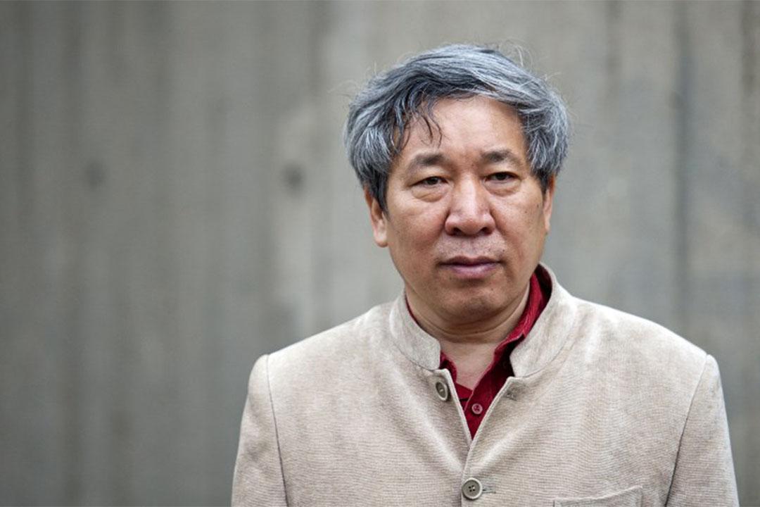 圖為2013年5月20日,閻連科在英國倫敦出席一個文學獎頒獎禮。