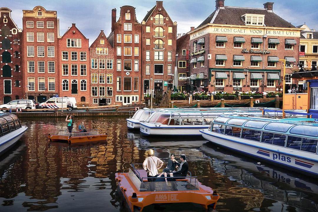 無人駕駛船將在荷蘭阿姆斯特丹數百年以來的運河上航行,載運旅客與貨物。
