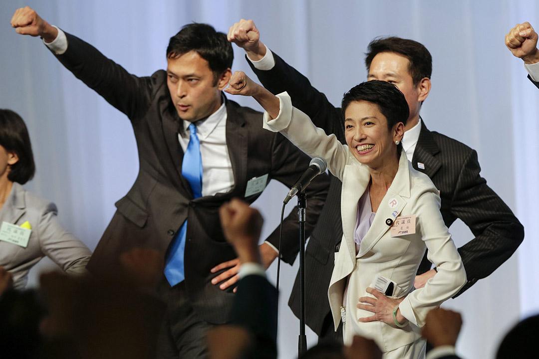 9月15日,蓮舫經選舉成功獲任民進黨黨首,她成了自20世紀90年代以來,日本主要反對黨的首位女性黨首。