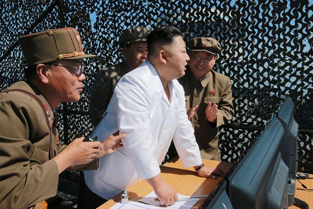2016年9月20日,北韓領袖金正恩監督新型運載火箭發動機試驗。