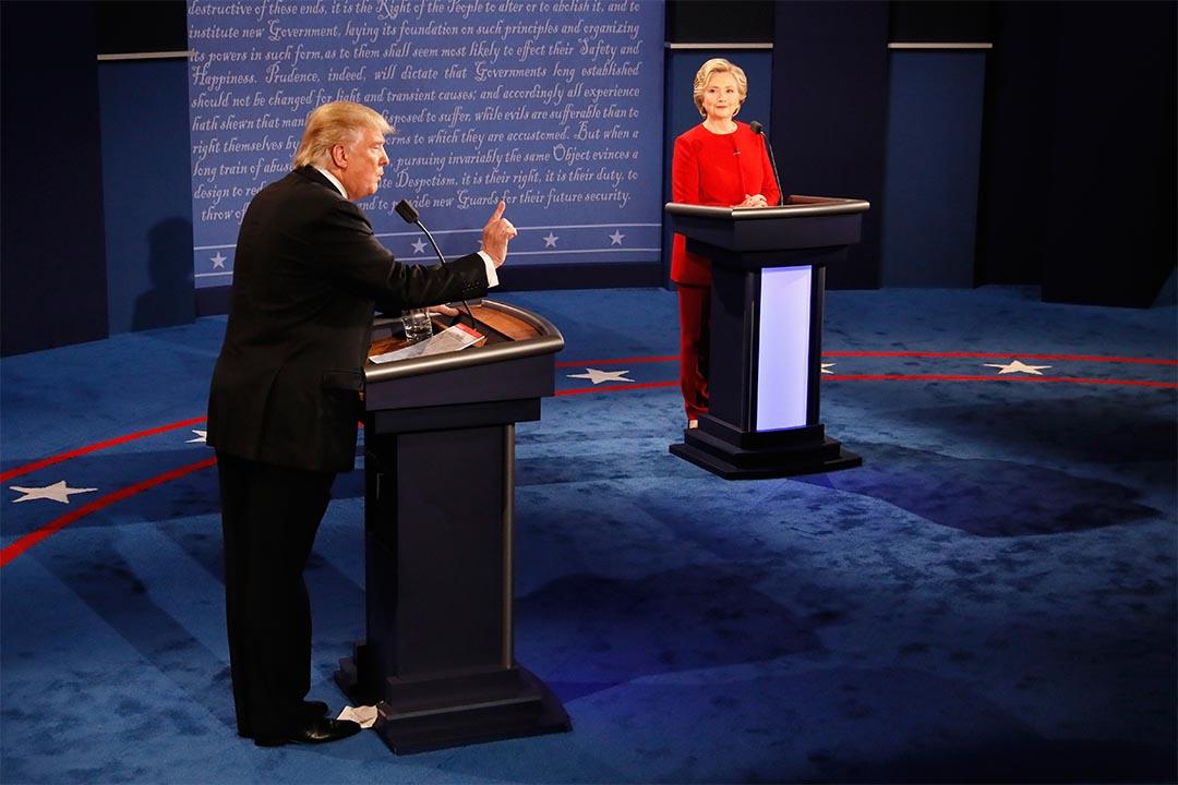2016年9月26日,美國兩黨總統候選人展開首場候選人電視辯論。