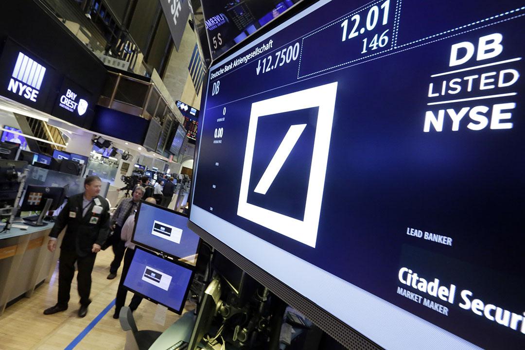 德意志銀行(Deutsche Bank)股價創史上最低紀錄。