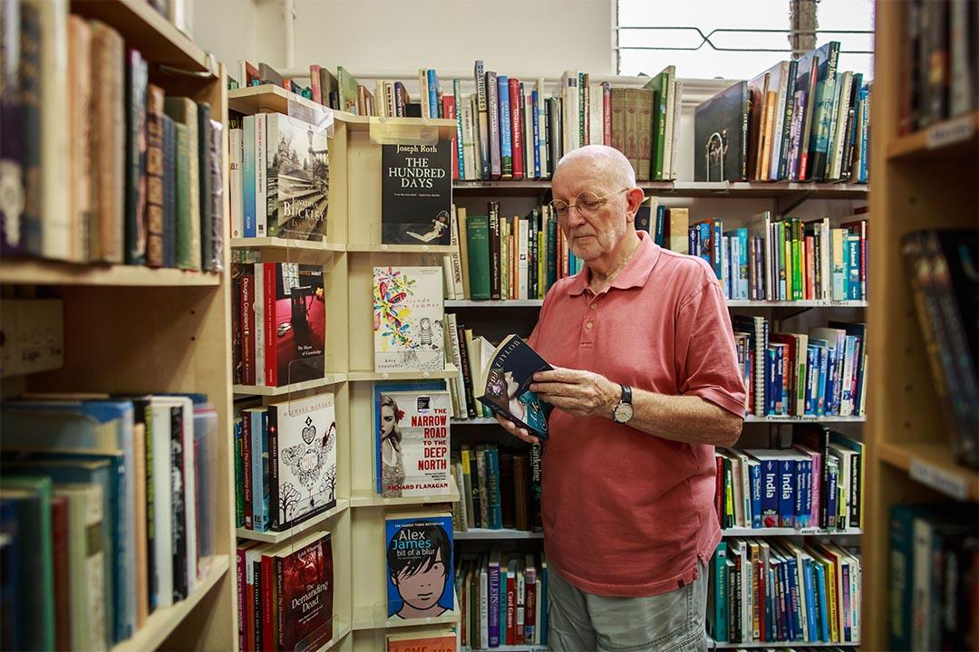 英文書店「Imprint」的店主Terry Boyce。