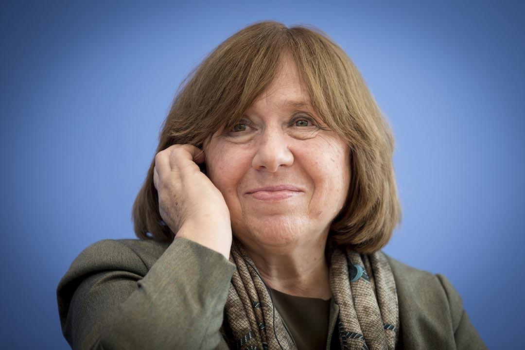 白俄羅斯女記者兼散文作家阿列克謝耶維奇。