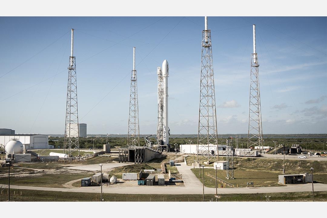 獵鷹9號火箭於佛羅里達的發射站。