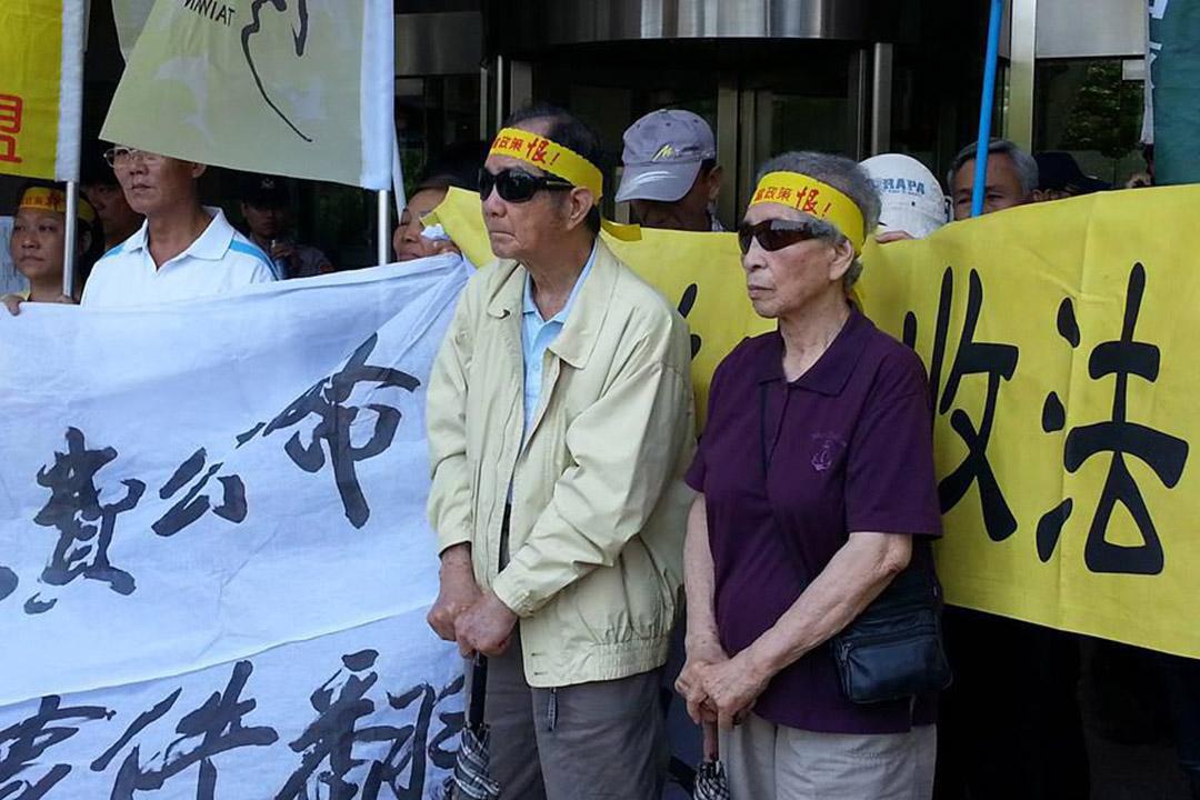 2015年5月,陳割、陳蔡信美到民進黨中央黨部向蔡英文主席陳情。
