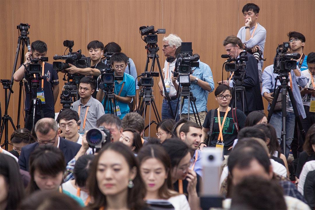2016年9月4日,浙江杭州,G20峰會的媒體區。
