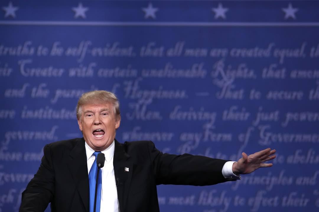共和黨總統候選人杜林普(Donald Trump)。