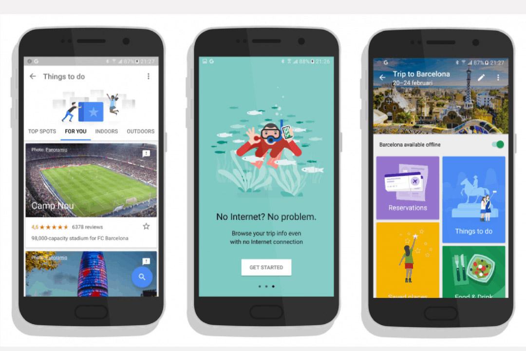 Google推出旅行應用程式Google Trips。