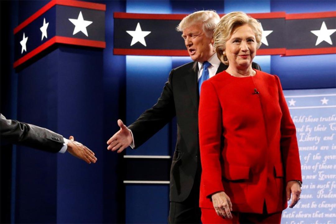 2016年9月26日,美國兩黨總統候選人準備展開電視辯論。