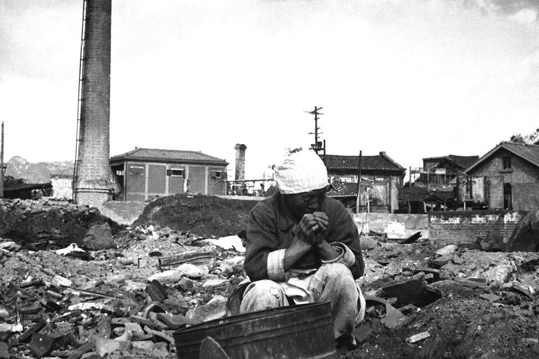1950年11月1日,朝鮮戰爭(1950-1953)爆發期間的漢城。