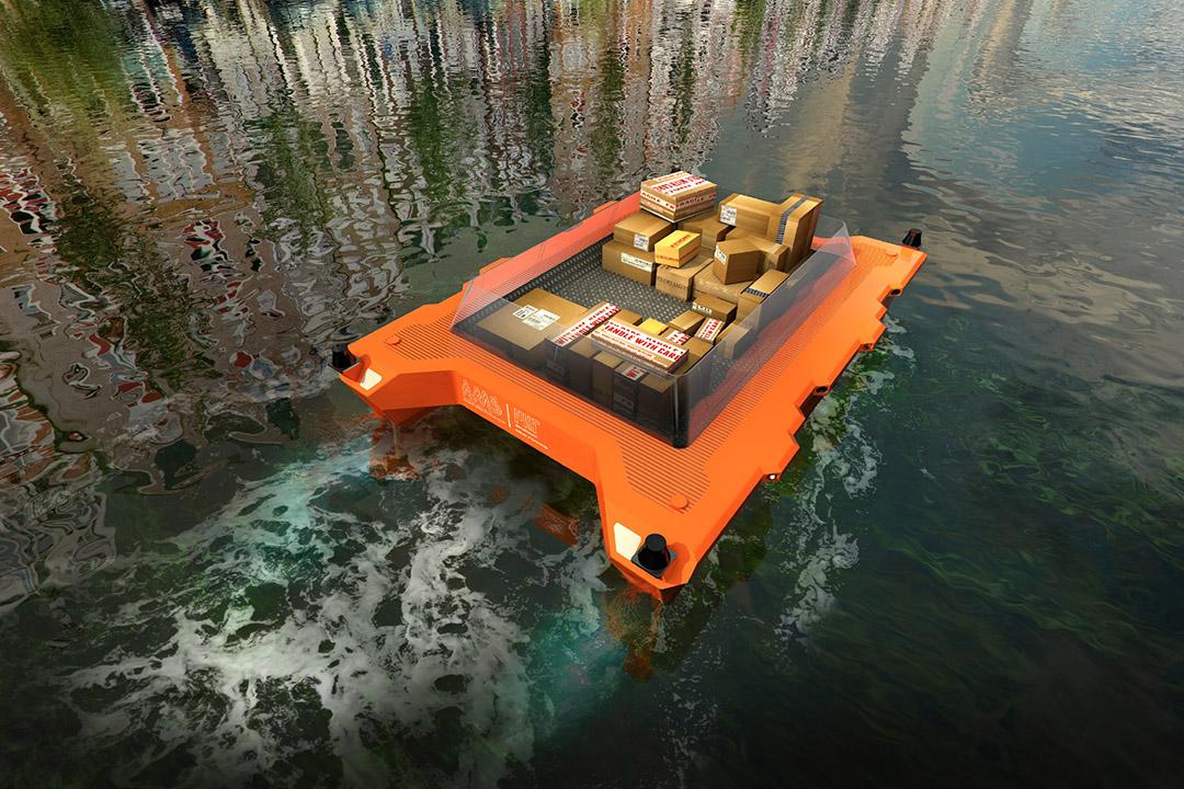 麻省理工學院(Massachusetts Institute of Technology,MIT)研究的無人駕駛船「機械自動船」(roboats)。