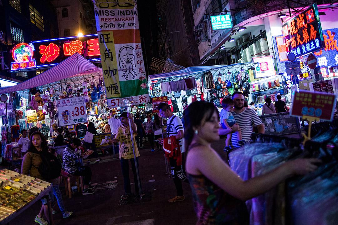 香港旺角通菜街。