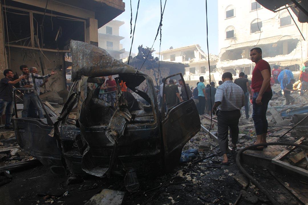 伊德利卜在停火協議達成後遭到空襲,至少58人死亡,90人受傷。