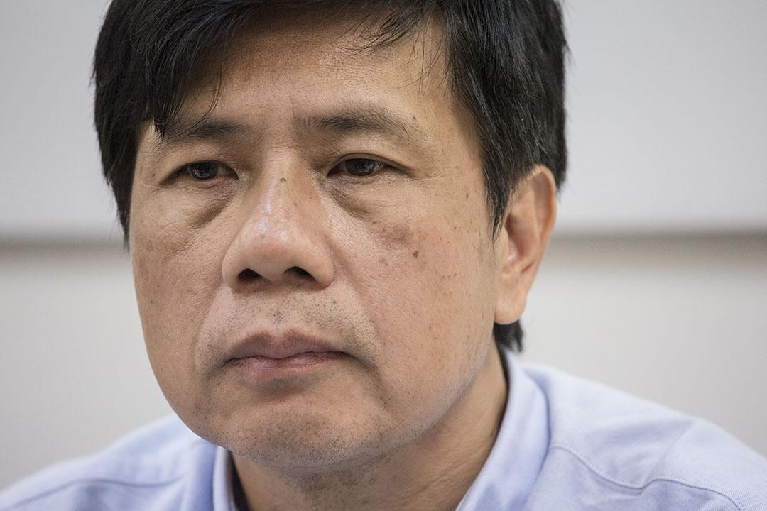 棄選超級區議會議席的公民黨陳琬琛。