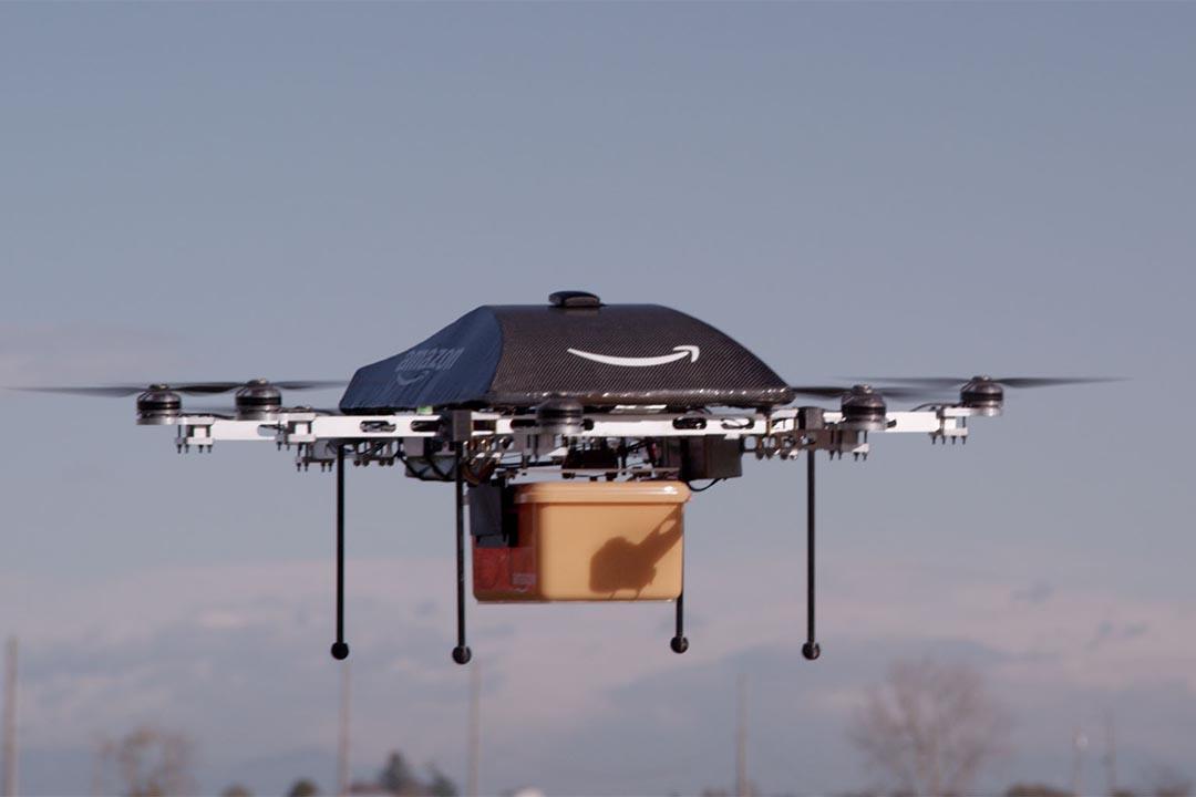 Amazon用以送貨的無人機。