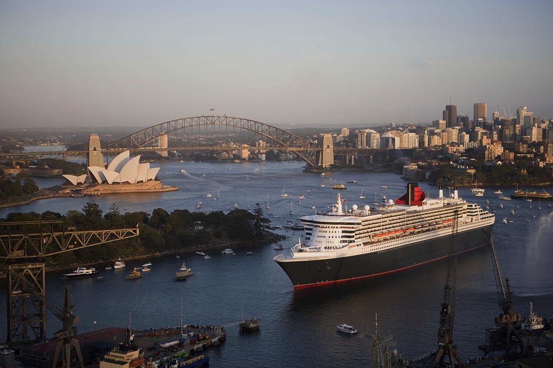 船隻運營商探索自動化航行。圖為一艘郵輪駛進澳洲悉尼港口。