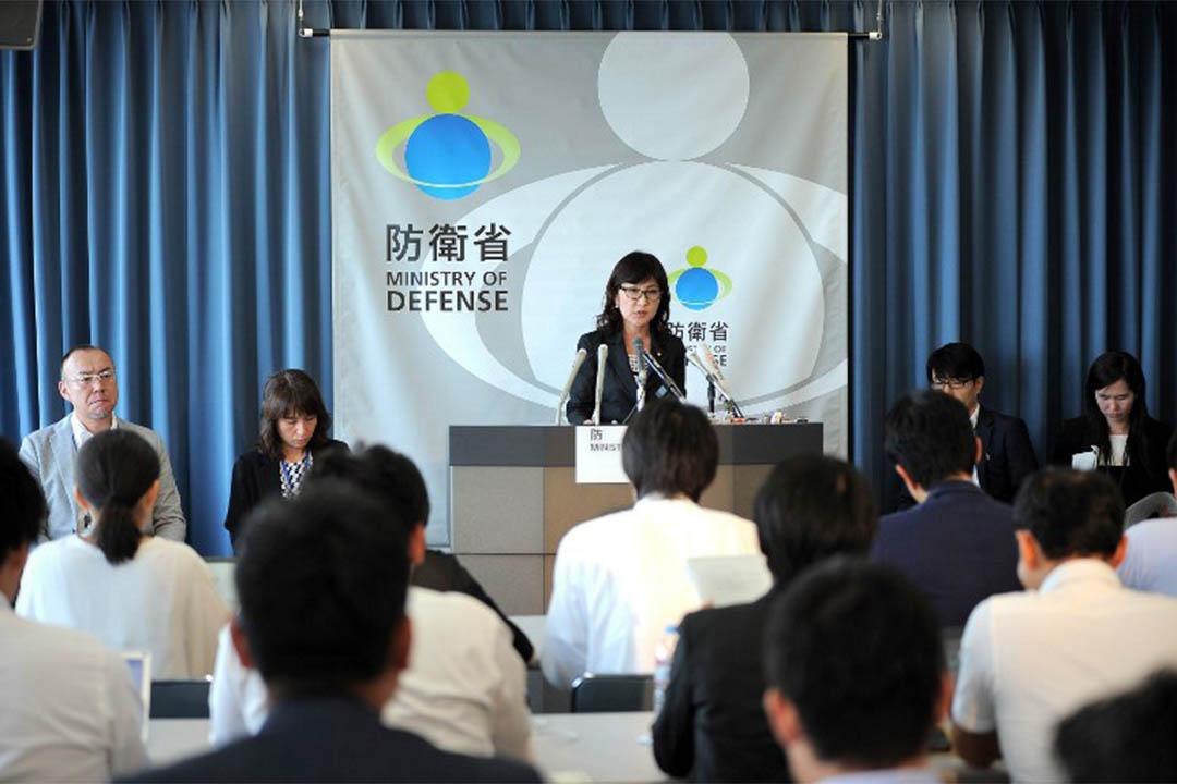 2016年9月9日,日本防衞大臣稻田朋美就北韓問題召開記者會。
