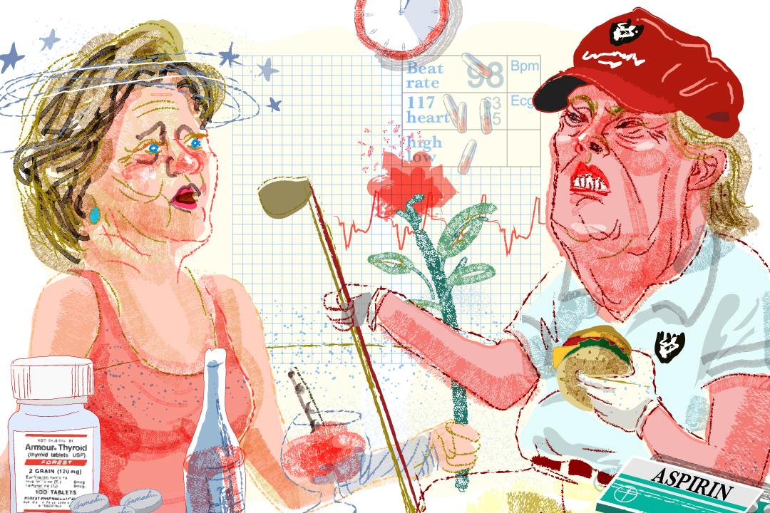 69歲的希拉莉和70歲的特朗普就彼此的健康狀況展開「文字辯論」。