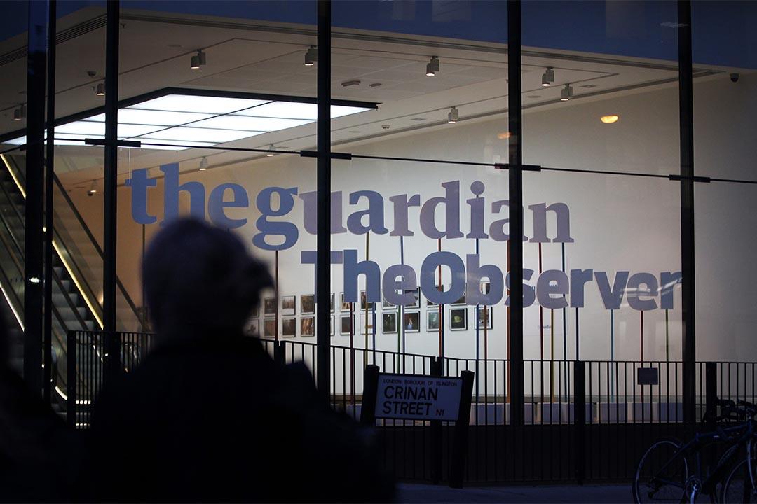 圖為英國倫敦,衛報的辦公室。