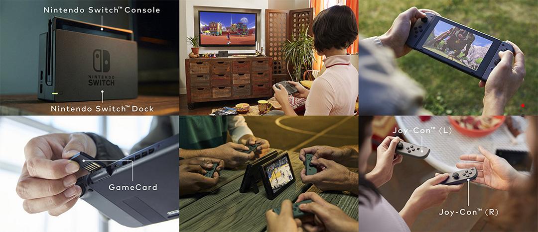 任天堂(nintendo)發布新主機Nintendo Switch,同時具備家用遊戲機和便攜遊戲機功能。