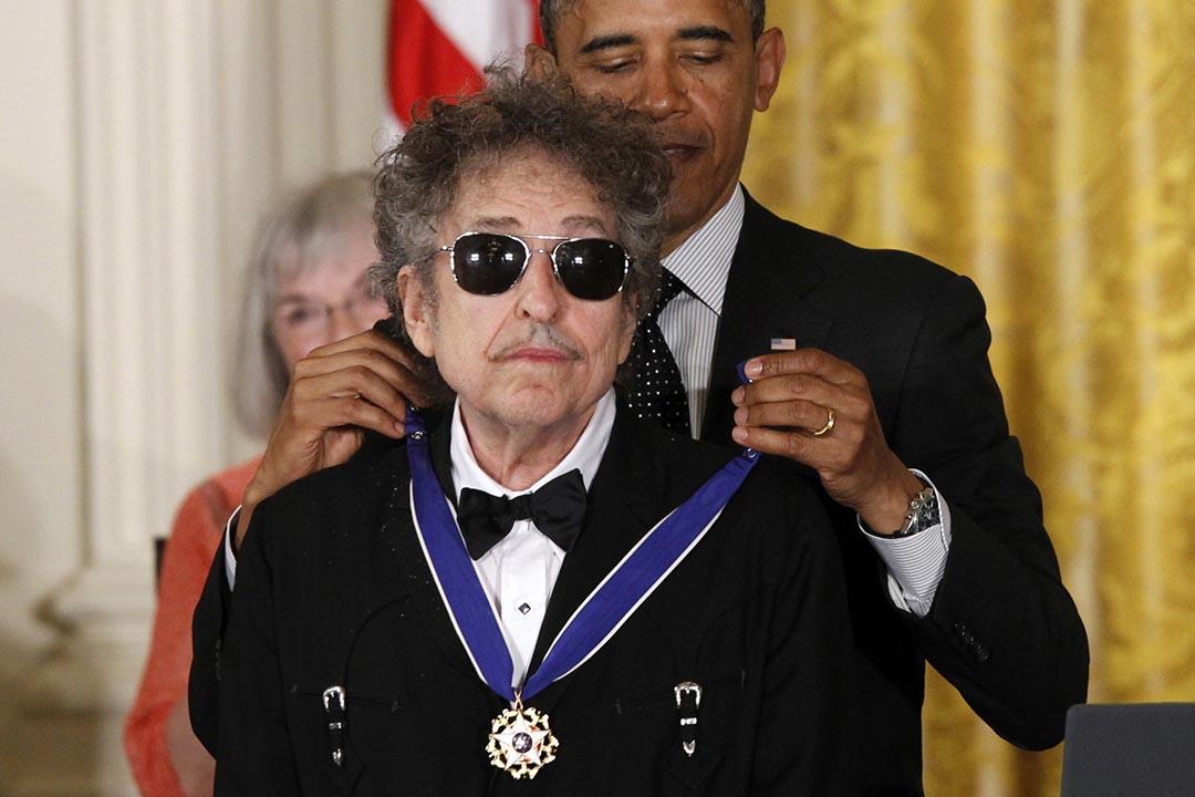 今屆諾貝爾文學獎得獎主為Bob Dylan。