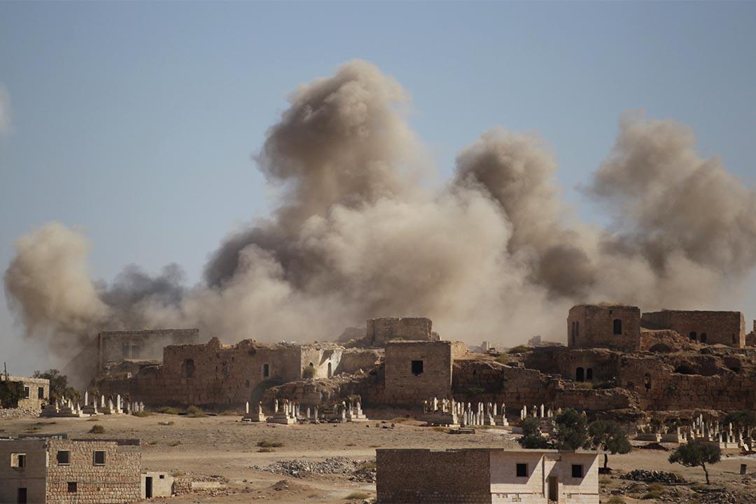IS開始用爆炸無人機發動襲擊。圖為2016年9月25日,叙利亞反抗軍的據點被轟炸。