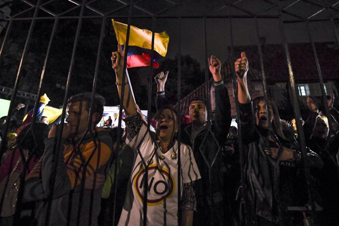 哥倫比亞公投否決與 FARC(哥倫比亞革命武裝力量)的和平協議。
