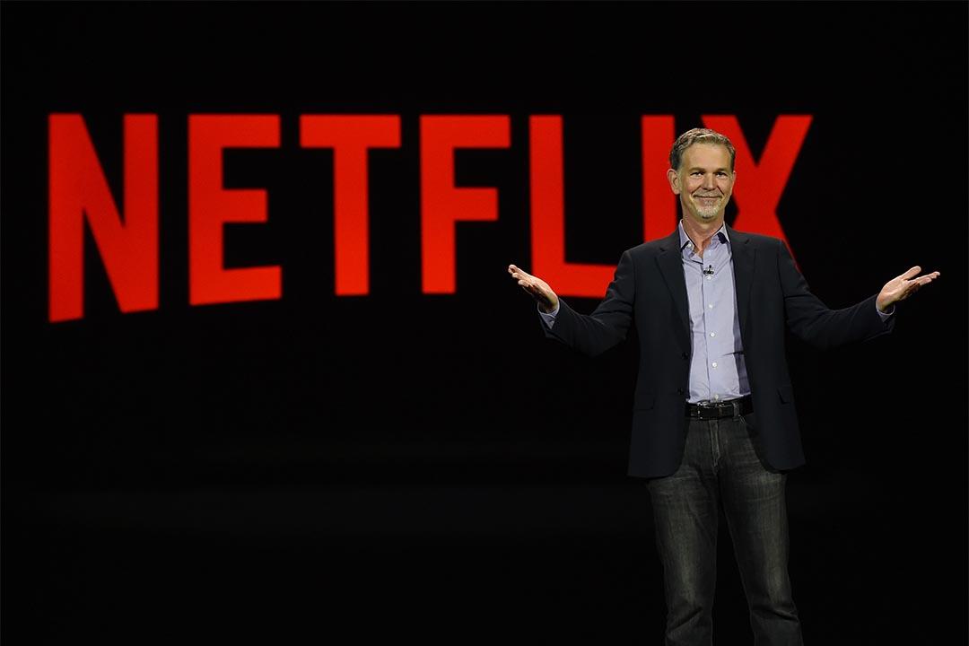 Netflix第三財季新訂戶激增擬在華授權內容。2016年1月6日,Netflix總裁Reed Hastings在 2016消費電子展上發言。