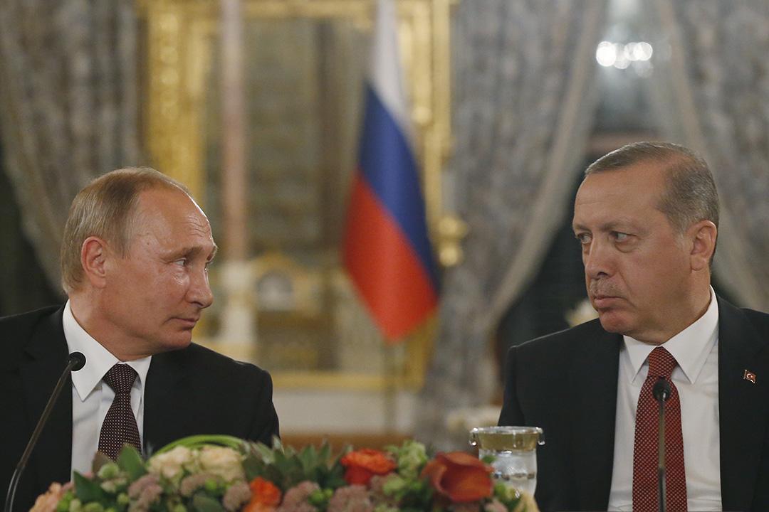 俄羅斯總統普京與土耳其總統埃爾多安。