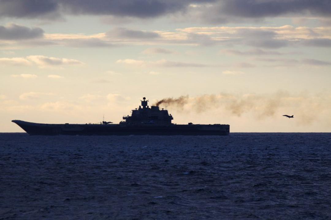 俄羅斯航空母艦庫茲涅佐夫號(Admiral Kuznetsov)。