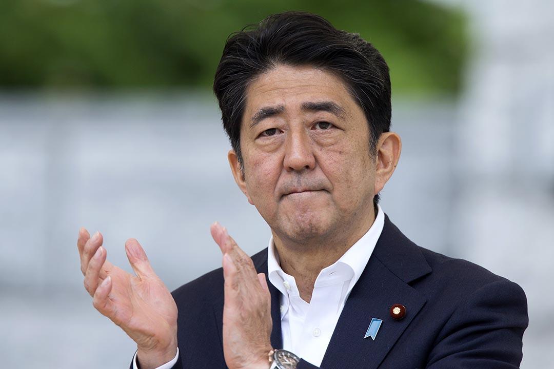 現任日本內閣總理大臣、自由民主黨總裁安倍晋三。