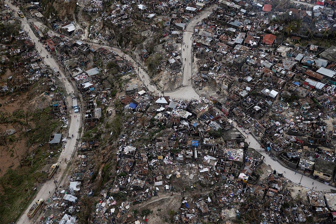 2016年10月5日,颶風「馬修」吹襲海地熱雷米。