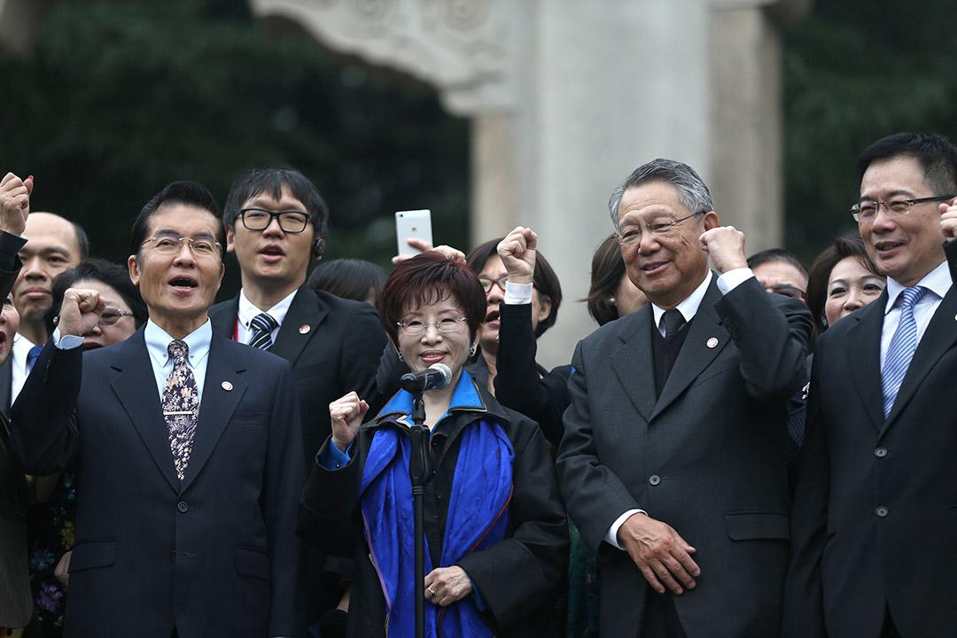 中国国民党主席洪秀柱31日至南京访问中山陵。