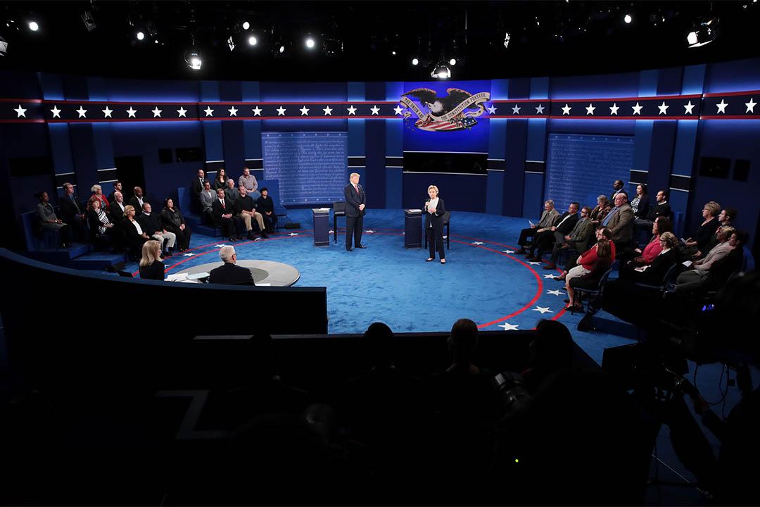 2016年10月9日,美國兩黨總統候選人進行第二次電視辯論。