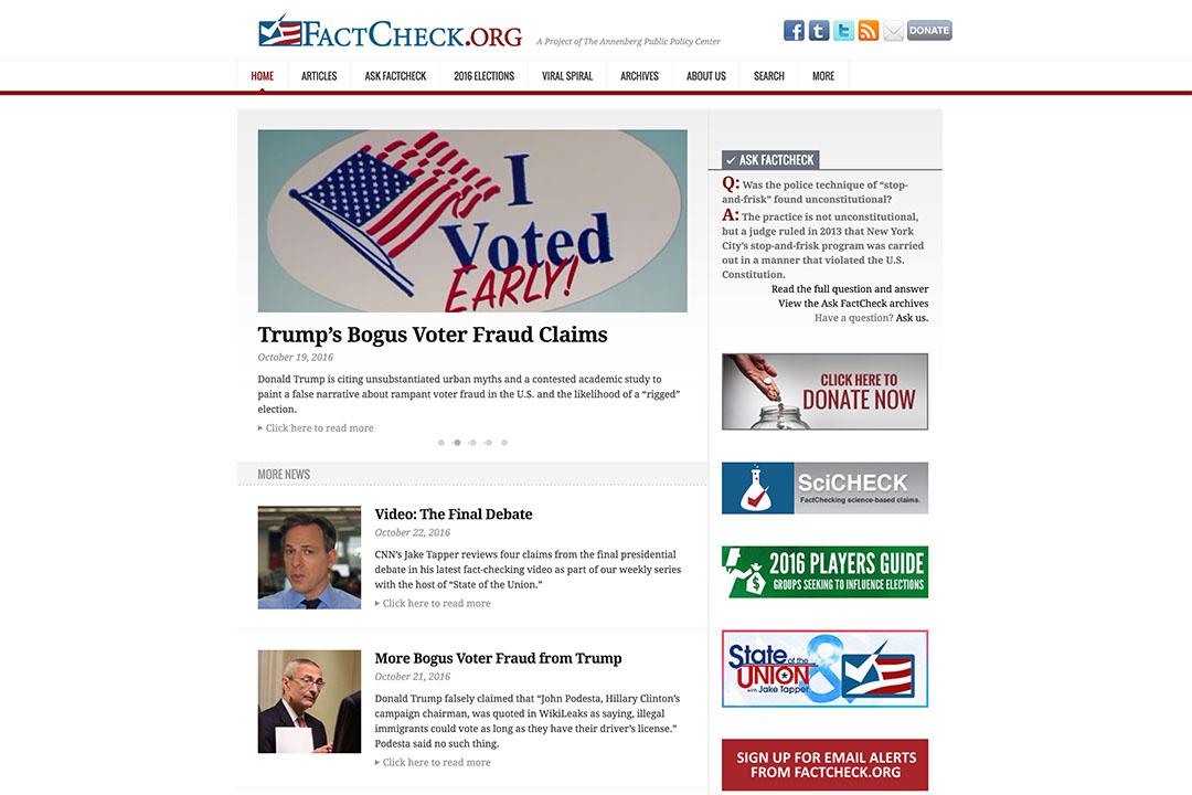 事實核查網站 「FactCheck.org」。