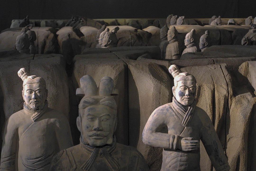 西安秦始皇兵馬俑。