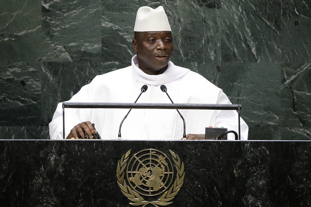 岡比亞總統賈梅(Yahya Jammeh)。
