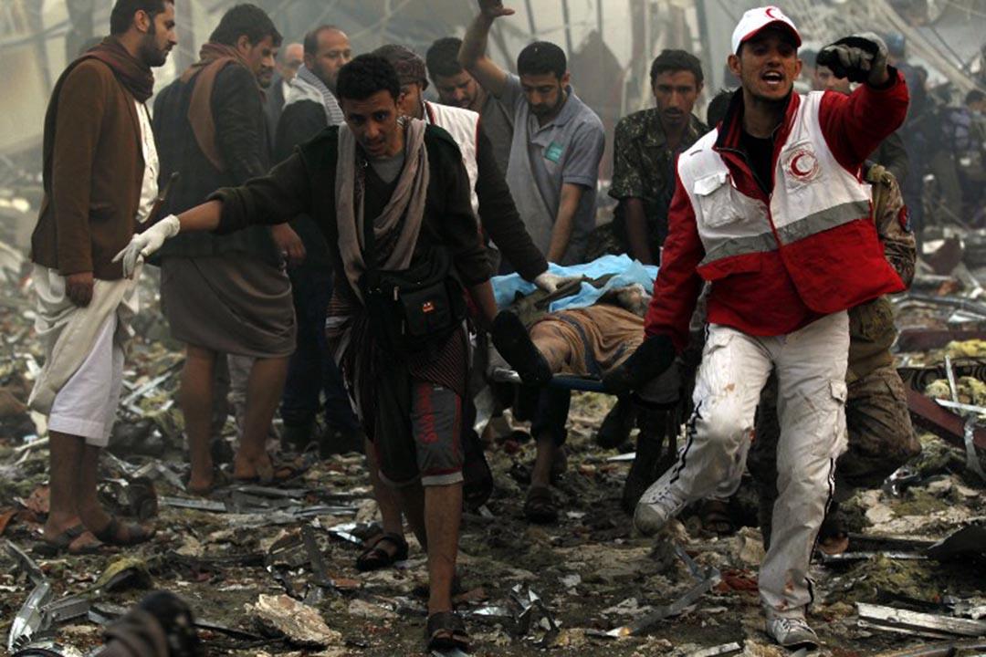 也門一場葬禮遭阿拉伯聯盟空襲致至少82死534傷。