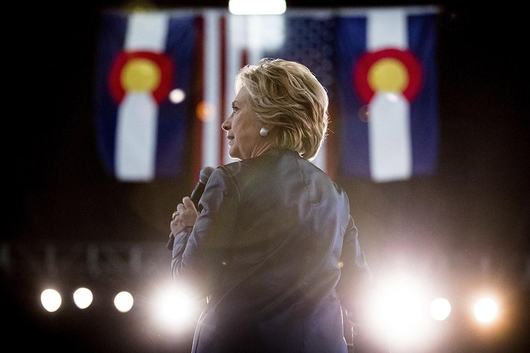 美國民主黨總統候選人希拉里(Hillary Clinton)。