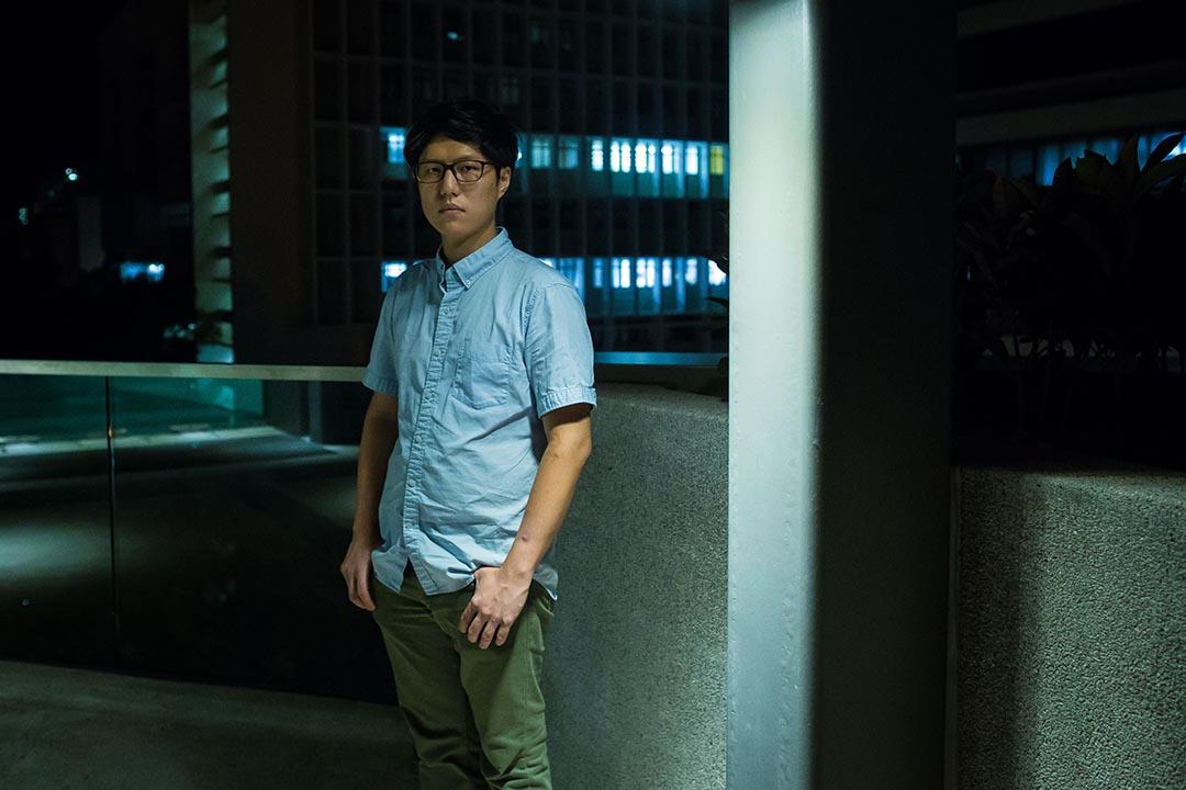 落選的研究生巫堃泰。