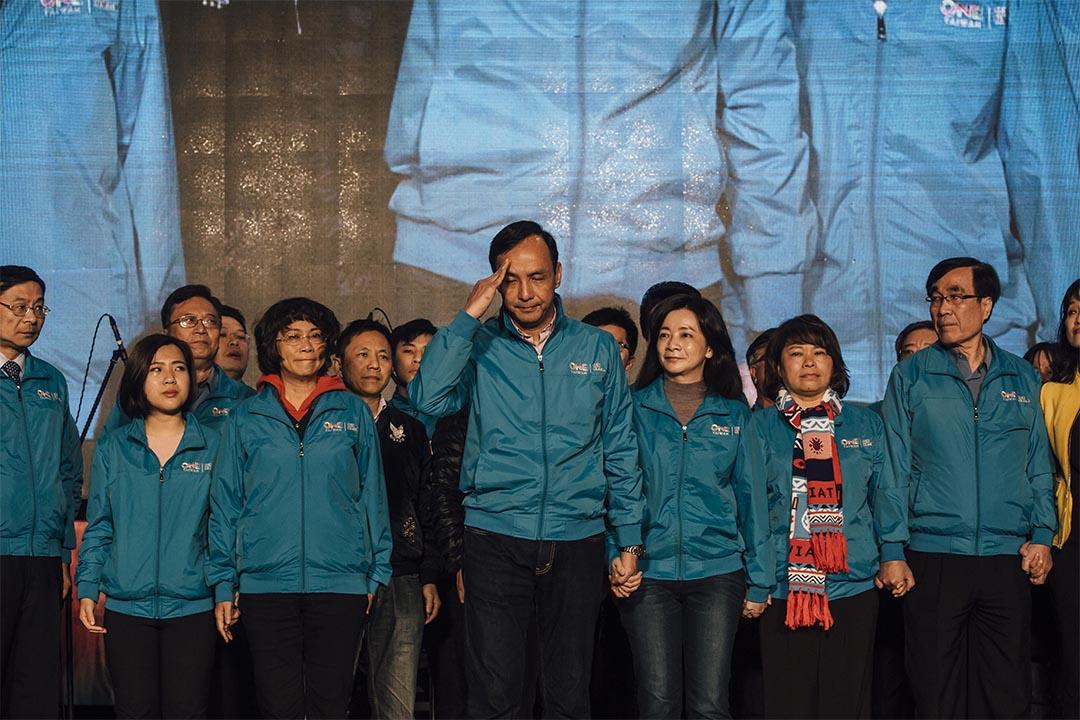 2016年1月16日,台灣大選投票日,國民黨參選人朱立倫宣布敗選。