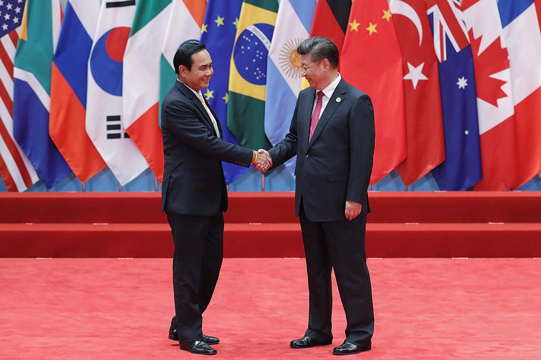 中國國家主席習近平與泰國總理巴育。