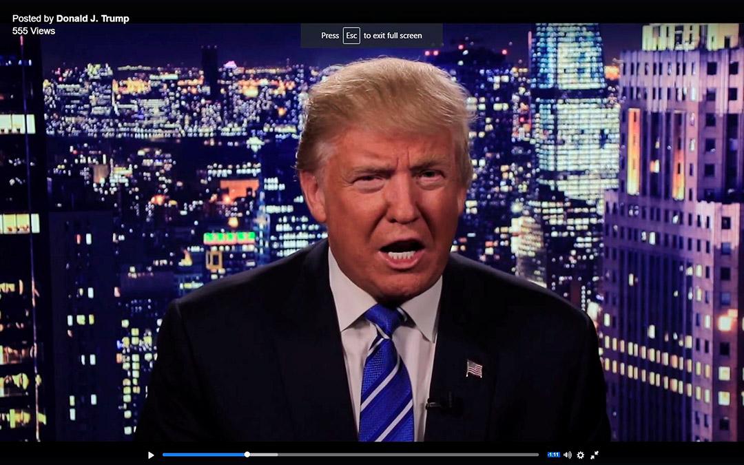 美國共和黨總統候選人特朗普在社交網站發佈對女性言論道歉片段。