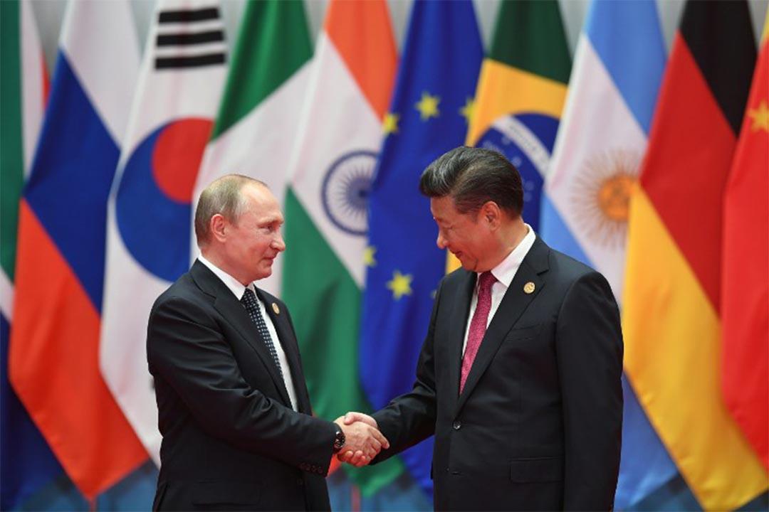 2016年9月4日,俄羅斯總統普京於杭州G20峰會上與中國國家主席習近平握手。