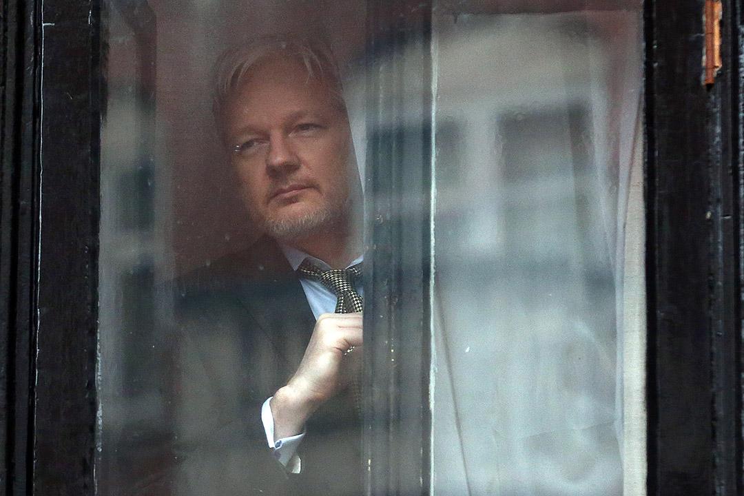 維基解密創始人朱利安·阿桑奇(Julian Assange)。