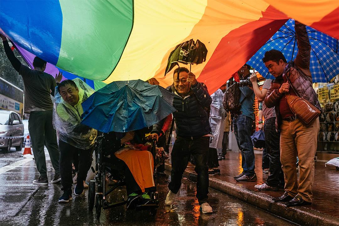 2016年11月26日,香港同志遊行。