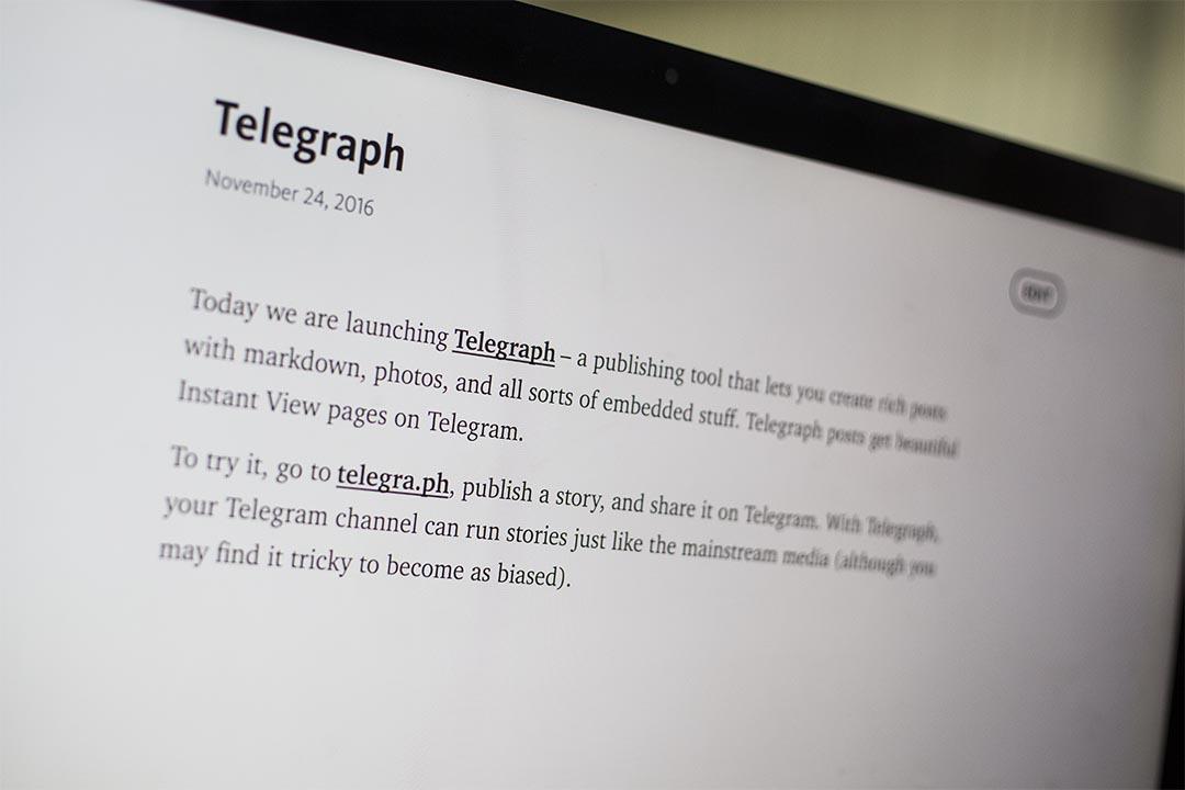 Telegraph頁面。